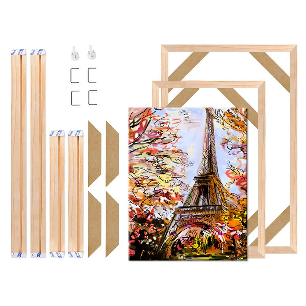 artboard-easel Natural Wooden Frame Painting DIY Square Wood Picture Frame Photo Poster Small Large Home office Exhibition Wall Decoration Supplies HOB1728141 1