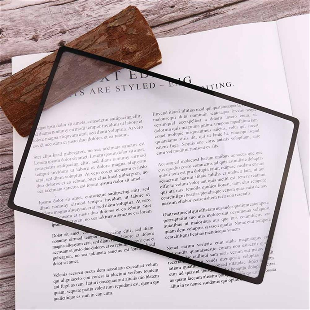 stamp-bookmark 3pcs Magnifier Book Mark Magnification 180X120mm 3X Flat PVC Magnifier Sheet Magnifying Reading Glass Stationery Bookmark Supplies HOB1728159 1
