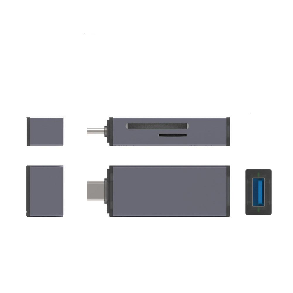 card-readers DINGPEI T-661 4 in 1 Card Reader with Hub Multifunctional Type-C USB TF / SD Memory Card for Computer Mobile Phone HOB1728634 1 1