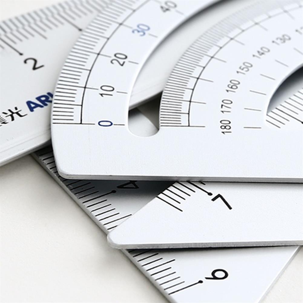 ruler M&G 4pcs/set Aluminium Ruler Set Metal Geometry Maths Drawing Rulers Protractor Mathematical Stationery School Study Supplies HOB1729173 1 1