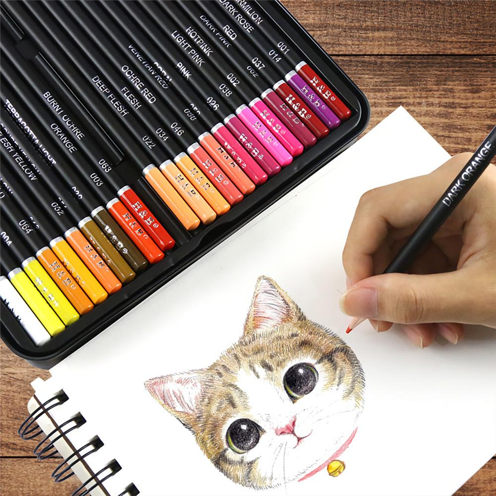 art-kit H&B 72/102 Colors Oil Painting Pencil Set Artist Natural Wooden Color Pencil Set Stationery Art Painting Supplies HOB1729355 1 1