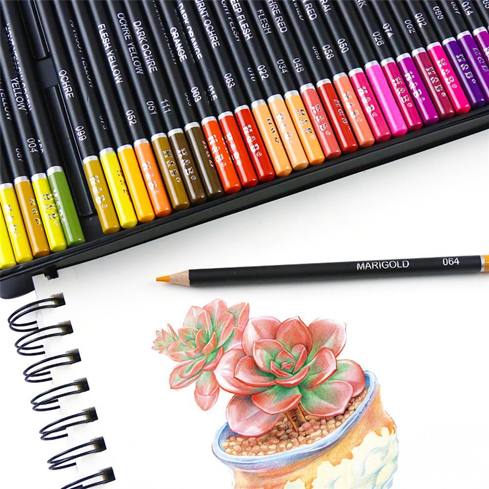 art-kit H&B 72/102 Colors Oil Painting Pencil Set Artist Natural Wooden Color Pencil Set Stationery Art Painting Supplies HOB1729355 3 1
