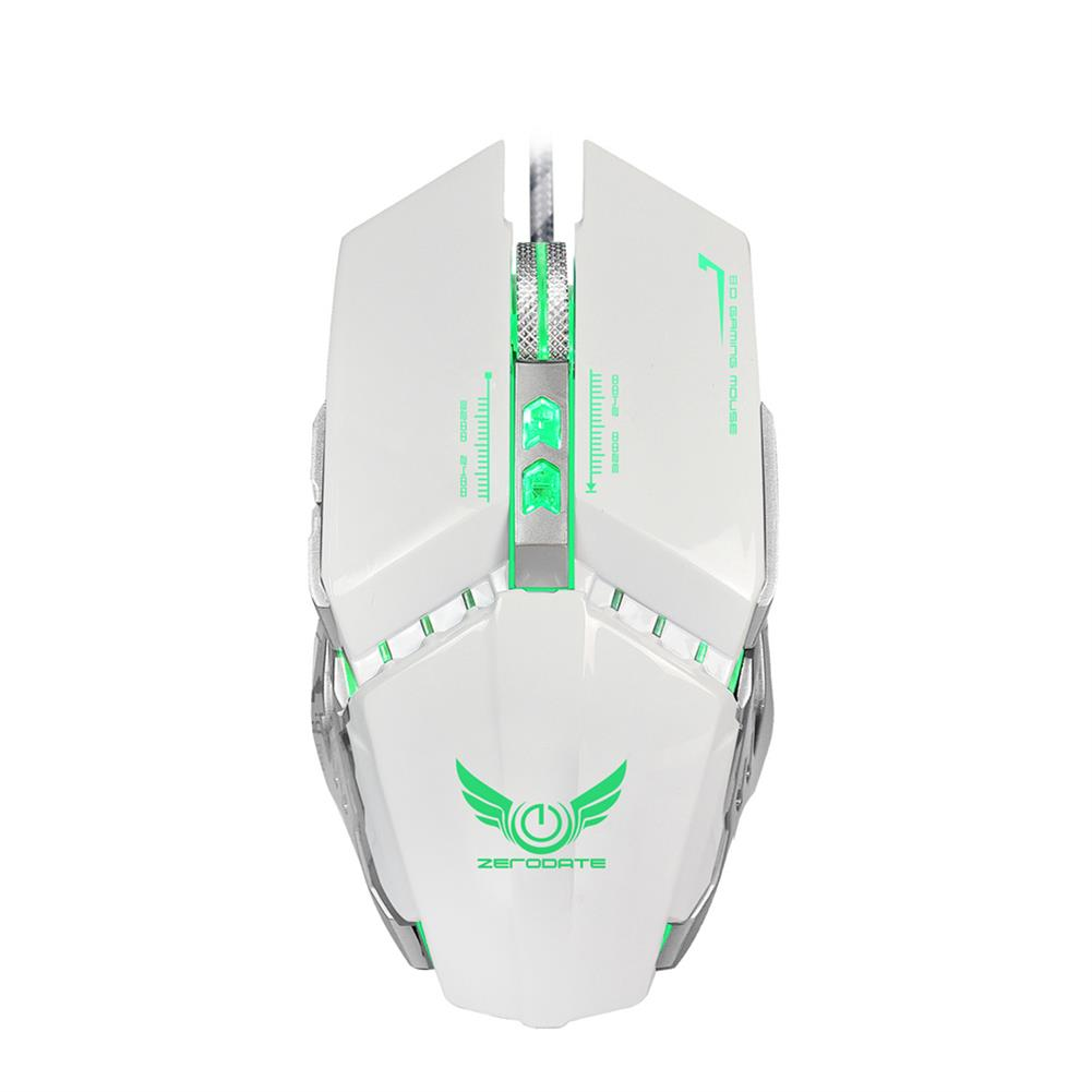 mouse ZERODATE X700 RGB Wired Gaming Mouse 3200DPI 7 Buttons Optical Macro Programming Mechanical Mouse for Computer Laptop PC Gamer HOB1729772 1 1
