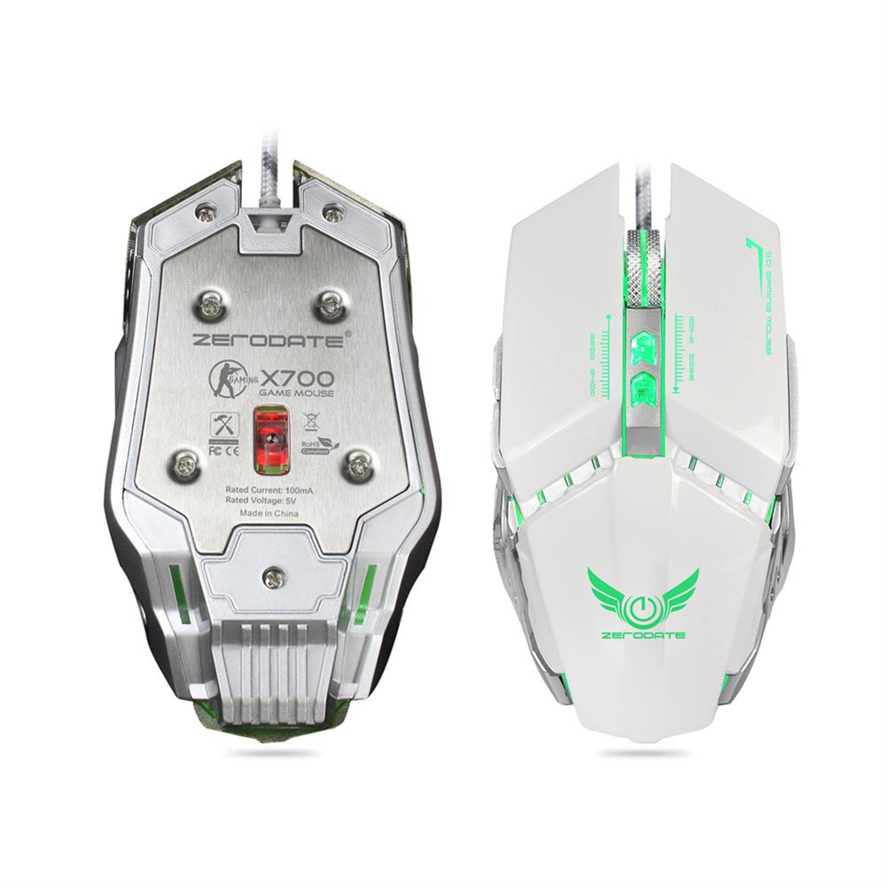 mouse ZERODATE X700 RGB Wired Gaming Mouse 3200DPI 7 Buttons Optical Macro Programming Mechanical Mouse for Computer Laptop PC Gamer HOB1729772 2 1