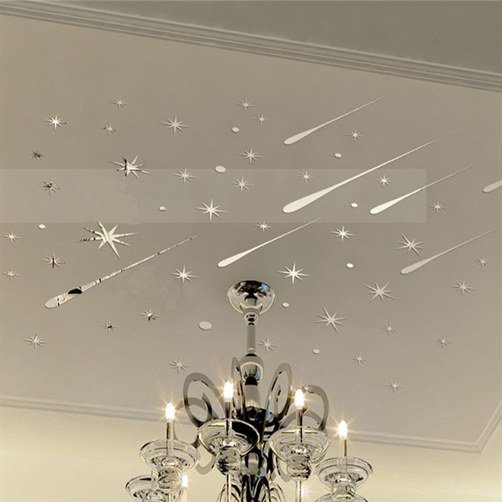 art-kit Star Meteor Acrylic Mirror Wall Home Decal Art Room Ceiling Vinyl Stickers Home House Wall Sticker HOB1730053 1