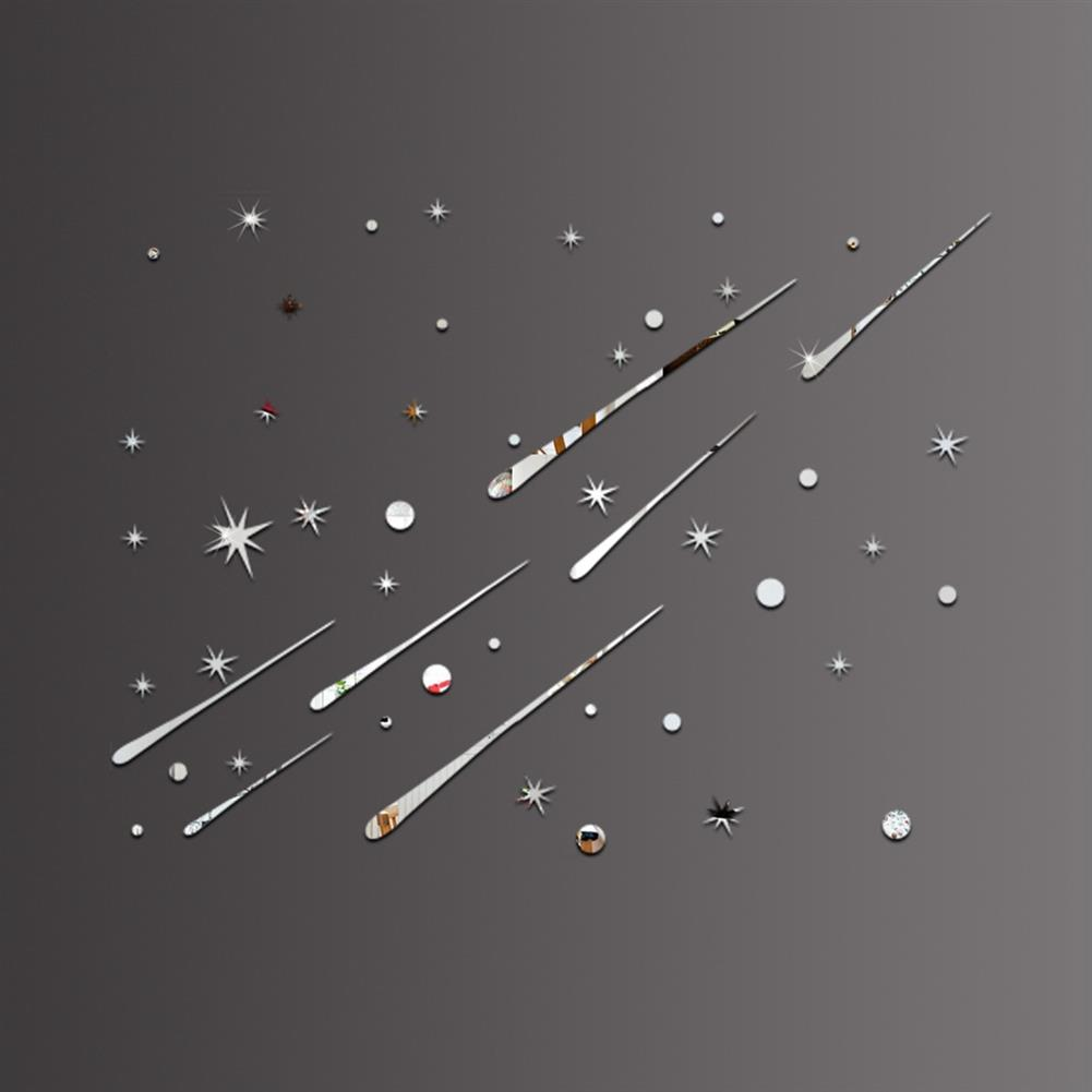 art-kit Star Meteor Acrylic Mirror Wall Home Decal Art Room Ceiling Vinyl Stickers Home House Wall Sticker HOB1730053 1 1