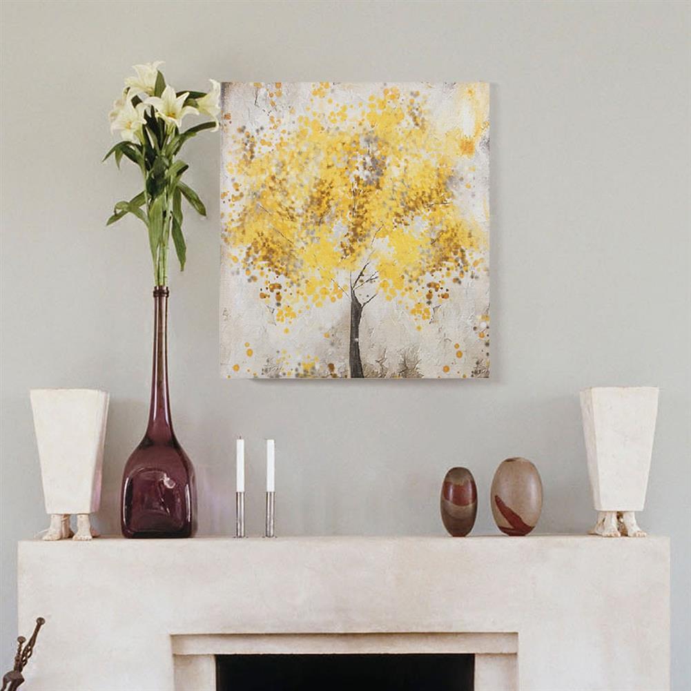art-kit 2pcs Frameless Yellow Flower Tres Canvas Pictures 30x30cm Frameless House Living Room Bedthroom Wall Art Decoration Supplies HOB1731000 2 1