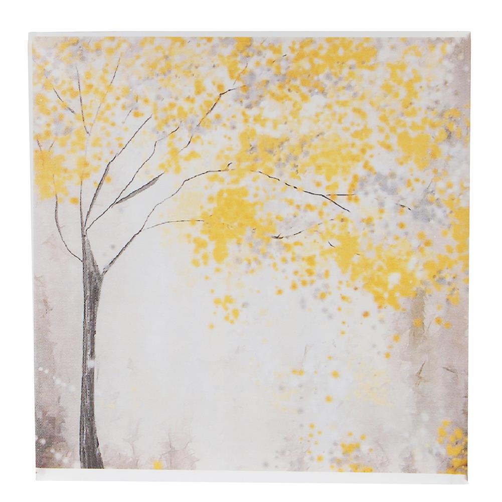art-kit 2pcs Frameless Yellow Flower Tres Canvas Pictures 30x30cm Frameless House Living Room Bedthroom Wall Art Decoration Supplies HOB1731000 3 1