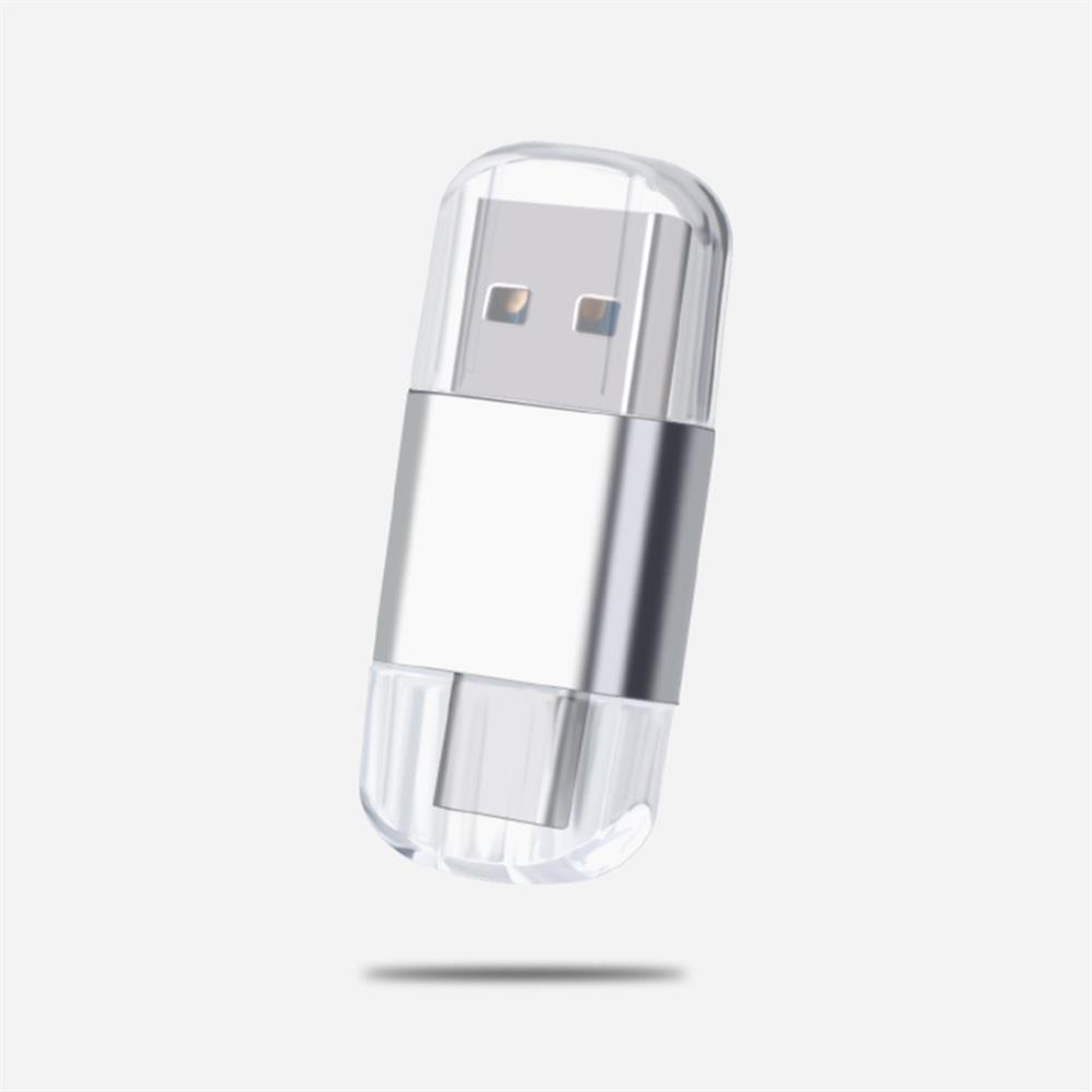 card-readers Mini 2 in 1 Dual Head Card Reader Type-c USB 2.0 Multifunctional TF / SD Memory Card for Computer Mobile Phone HOB1731135 1 1