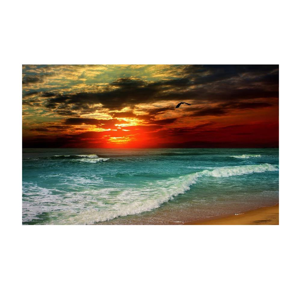 art-kit 1 Piece Wall Decorative Paintings Sunset Seascape Beach Print Art Pictures Frameless Wall Hanging Decorations for Home office HOB1731716 1