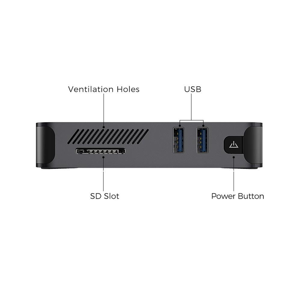 mini-pc XIDU PhilMac Mini PC intel Celeron J4115 8GB LPDDR4 128 GB Desktop PC Quad Core 1.8GHz to 2.5GHz intel UHD Graphics 600 BT4.2 Win10.1 HOB1732313 1 1