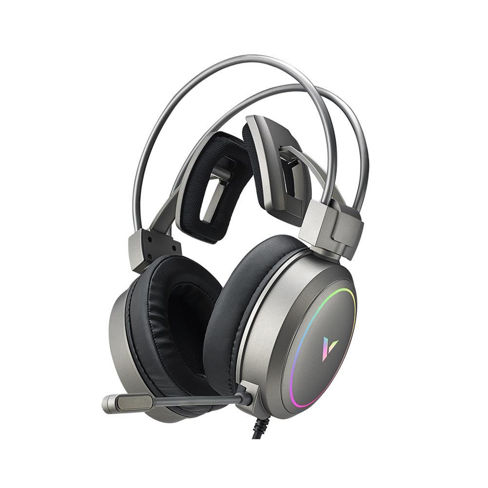 headphones RAPOO Vh610 Gaming Headset 7.1 Virtual Surround Sound integrated Line Control Graphene RGB LED Light Headphone for Compurter Game HOB1732503 1