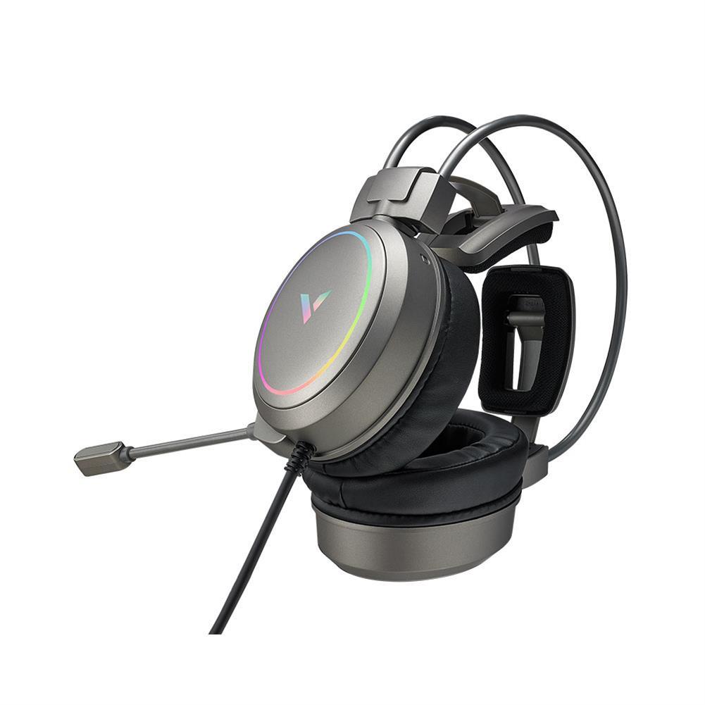 headphones RAPOO Vh610 Gaming Headset 7.1 Virtual Surround Sound integrated Line Control Graphene RGB LED Light Headphone for Compurter Game HOB1732503 1 1