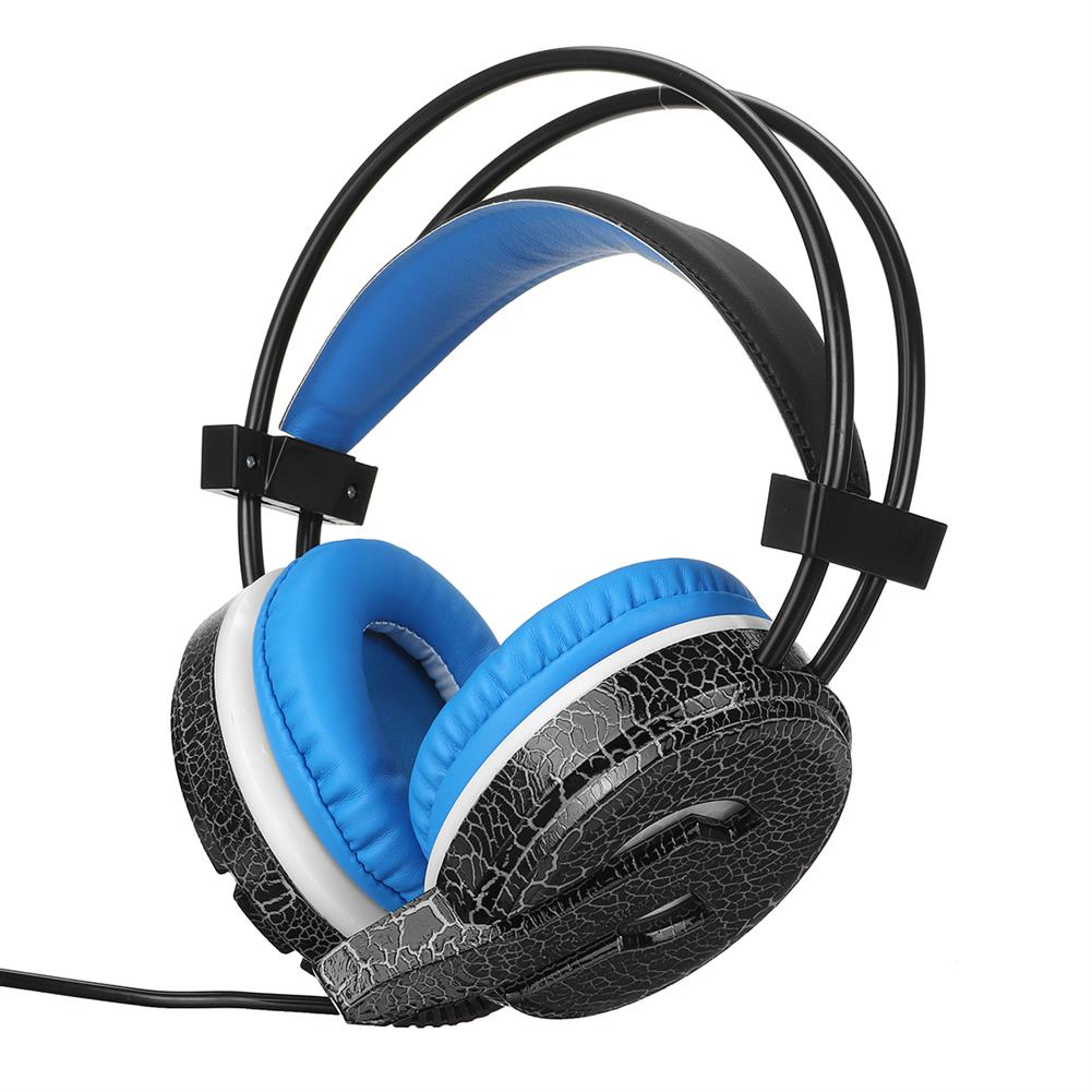 headphones MISDE H6 Gaming Headset 7 Color Breathing Light 3.5mm Wired Head-mounted Earphone Headphone Balck Blue for pc HOB1732536 1