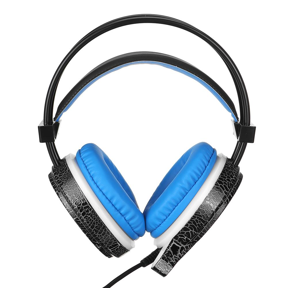 headphones MISDE H6 Gaming Headset 7 Color Breathing Light 3.5mm Wired Head-mounted Earphone Headphone Balck Blue for pc HOB1732536 1 1