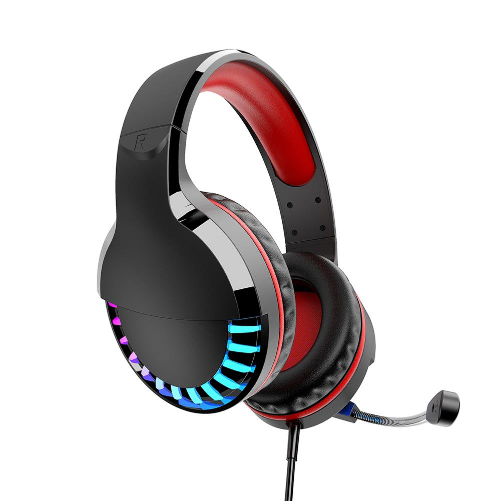 headphones M18 3.5mm+USB Gaming Headsets Multicolor Lighting 50mm Unit Wired Headphone LED Lght intelligent Noise Reduction and Soundproofing, 3d Surround Sound Effect for PC HOB1732538 1 1