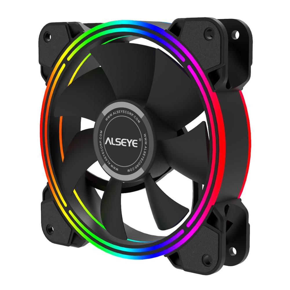 fans-cooling ALSEYE HALO PC Cooling Fan 4 Pin PWM 120mm Static LED RGB Computer Fan for Case and CPU Fan Replacement HOB1733034 1 1