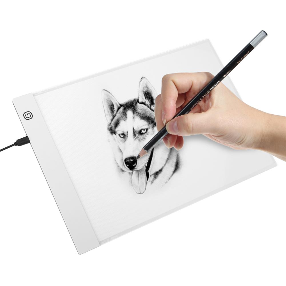 graphics-tablets A4 Graphics Tablet LED Drawing Tablet Thin Art Stencil Drawing Board Light Box Tracing Table Pad HOB1733198 1