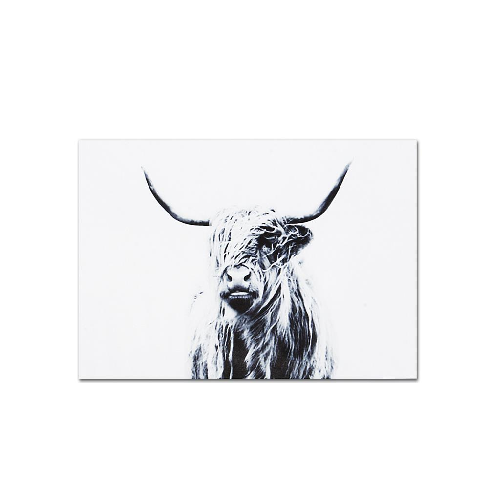 art-kit 1 Piece Highland Cattle Canvas Painting Wall Decorative Print Art Pictures Frameless Wall Hanging Decorations for Home office HOB1733254 1