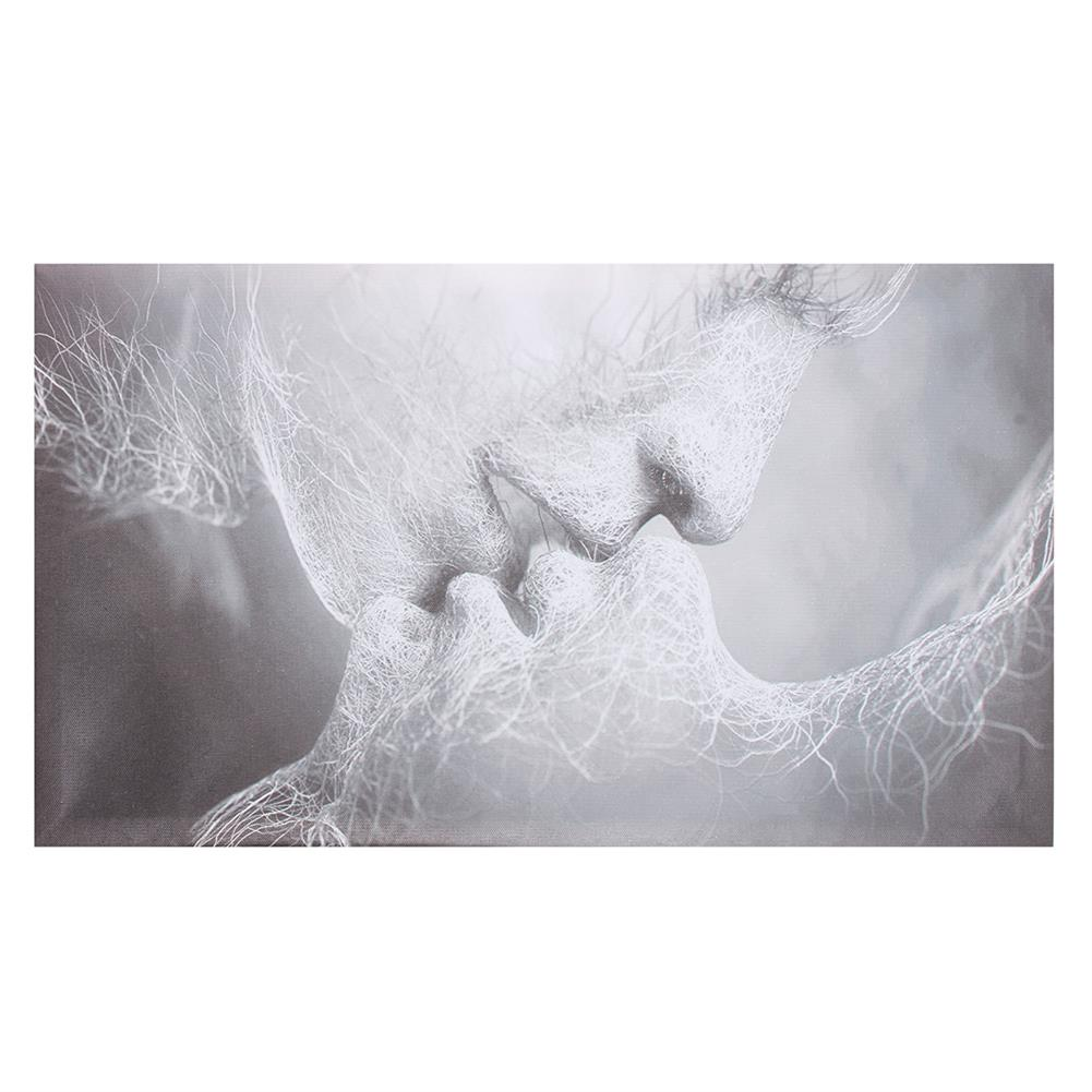 art-kit 1 Piece Love Kiss Abstract Canvas Painting Wall Decorative Print Art Pictures Frameless Wall Hanging Decorations for Home office HOB1733278 1