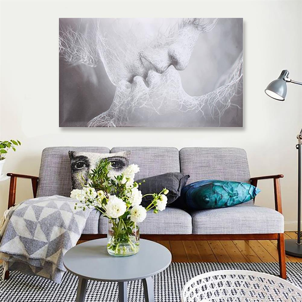 art-kit 1 Piece Love Kiss Abstract Canvas Painting Wall Decorative Print Art Pictures Frameless Wall Hanging Decorations for Home office HOB1733278 2 1