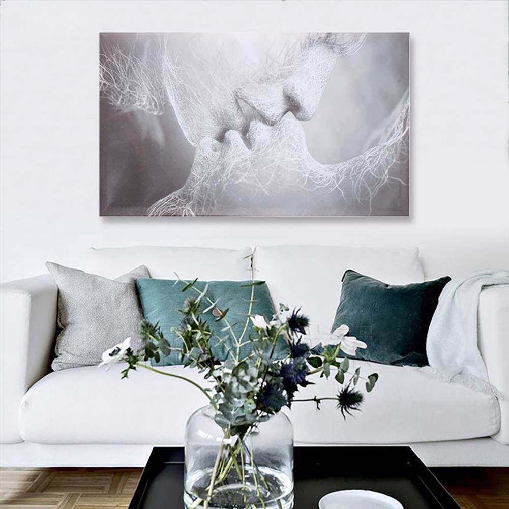 art-kit 1 Piece Love Kiss Abstract Canvas Painting Wall Decorative Print Art Pictures Frameless Wall Hanging Decorations for Home office HOB1733278 3 1