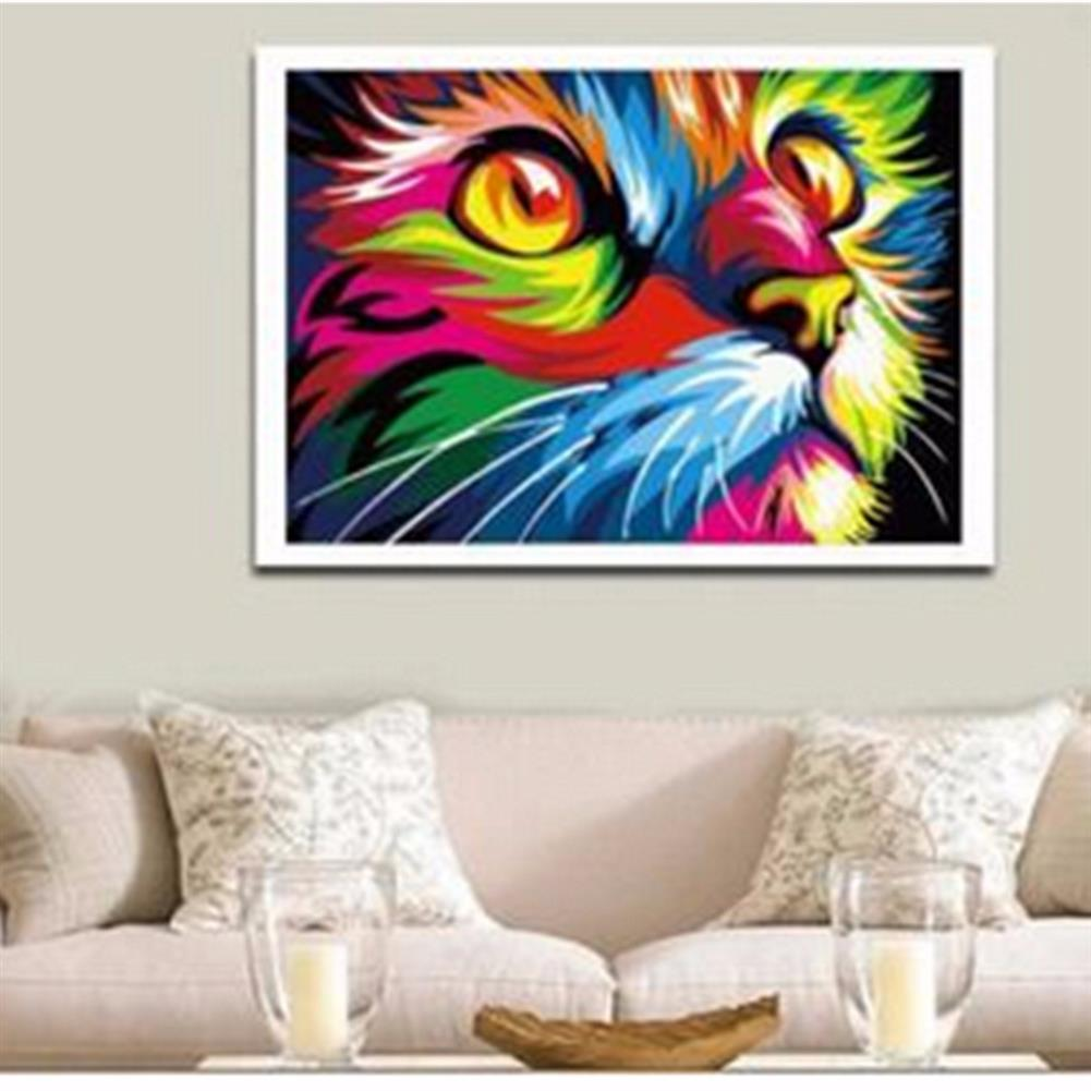 art-kit Multicolor Cat Oil Painting Set By Number Kit DIY Pigment Painting Art Hand Craft Tool HOB1733432 2 1