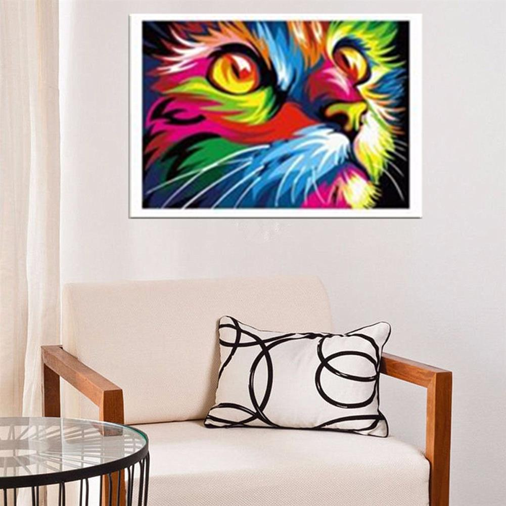 art-kit Multicolor Cat Oil Painting Set By Number Kit DIY Pigment Painting Art Hand Craft Tool HOB1733432 3 1