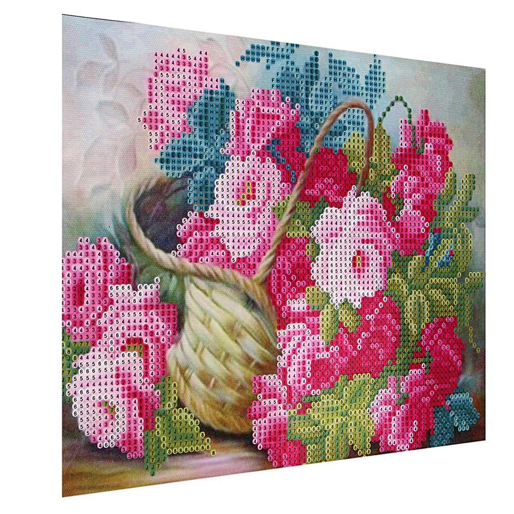 art-kit DIY 5D Diamond Painting Flower Basket Art Craft Embroidery Cross Stitch Kit Handmade Wall Decorations Gifts for Kids Adult HOB1733692 1 1