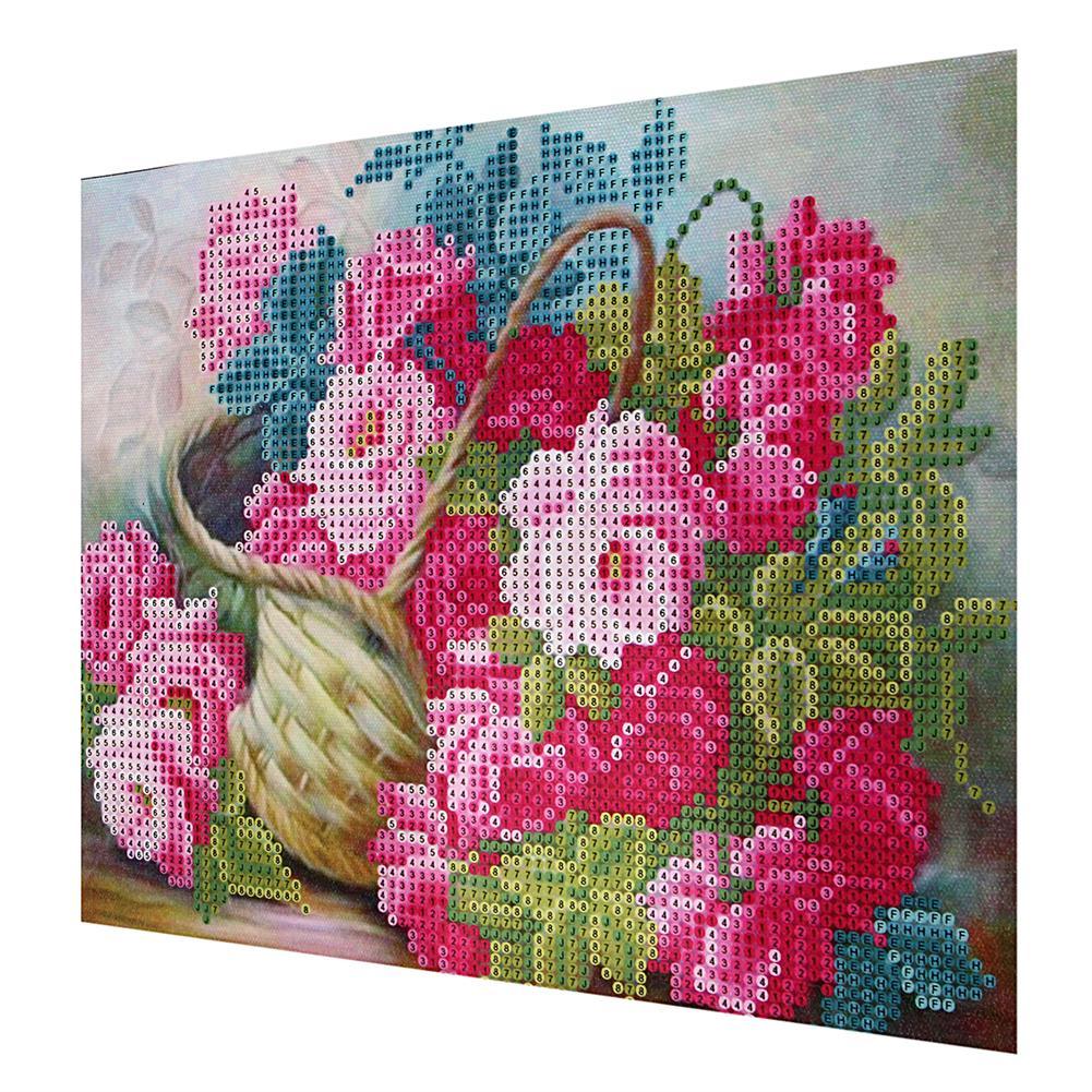 art-kit DIY 5D Diamond Painting Flower Basket Art Craft Embroidery Cross Stitch Kit Handmade Wall Decorations Gifts for Kids Adult HOB1733692 2 1