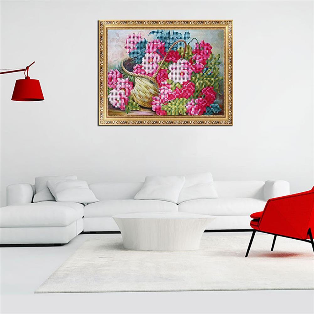 art-kit DIY 5D Diamond Painting Flower Basket Art Craft Embroidery Cross Stitch Kit Handmade Wall Decorations Gifts for Kids Adult HOB1733692 3 1
