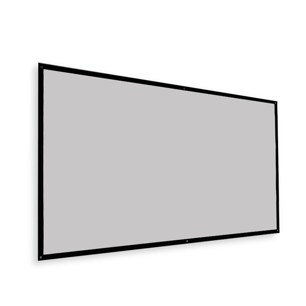 projector-screens Thinyou Projector Screen Simple Portable Curtain Grey Plastic Fabric Fiber HD for Movie 3D Home theater indoor Outdoor 120-inch 16:9 Throw Ratio HOB1733893 1