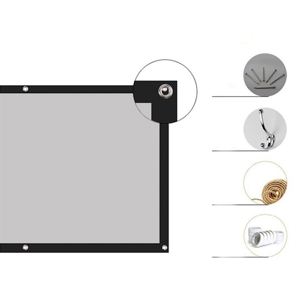 projector-screens Thinyou Projector Screen Simple Portable Curtain Grey Plastic Fabric Fiber HD for Movie 3D Home theater indoor Outdoor 120-inch 16:9 Throw Ratio HOB1733893 1 1