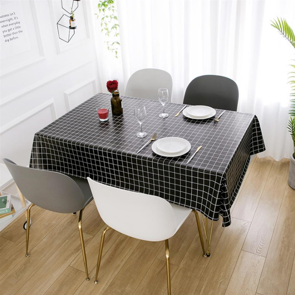 art-kit 1 PCS Table Cloth Linen Tablecloth Dust proof Rectangle Table Cover Slip Resistant Simple Plaid Table Cover 140x220cm HOB1733908 1