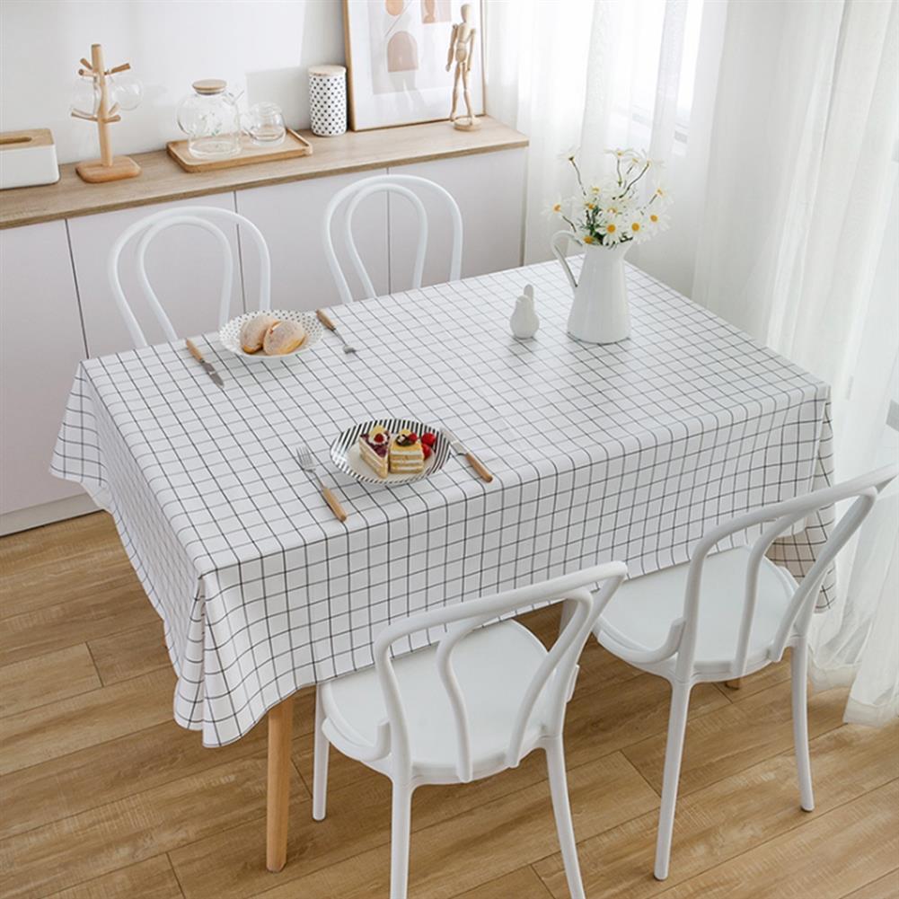 art-kit 1 PCS Table Cloth Linen Tablecloth Dust proof Rectangle Table Cover Slip Resistant Simple Plaid Table Cover 140x220cm HOB1733908 1 1