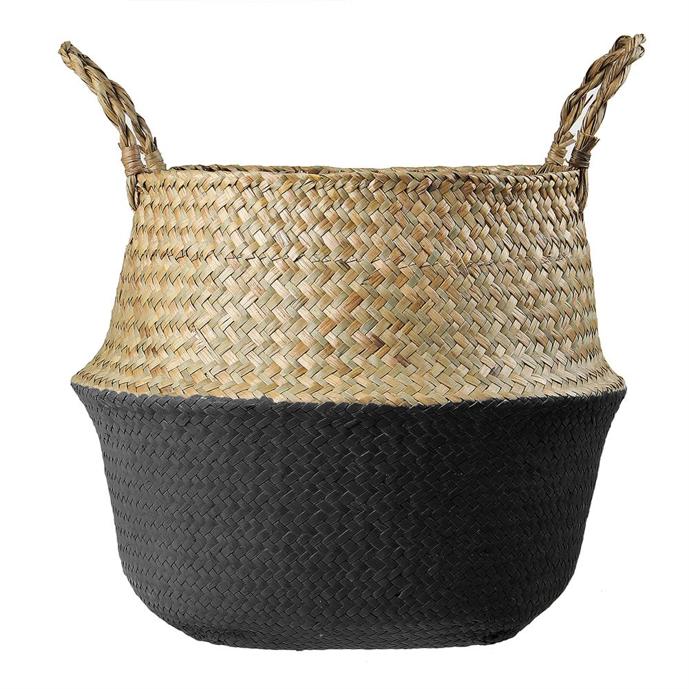 desktop-off-surface-shelves Woven Flower Basket Foldable Bamboo Storage Toy Dirty Clothes Basket Home House Supplies HOB1733912 1
