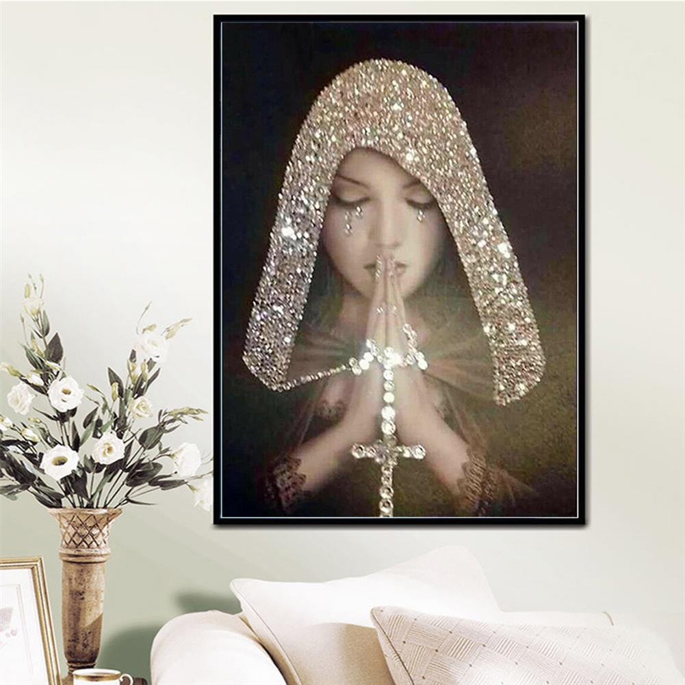 art-kit DIY 5D Diamond Painting Full Drill Praying Girl Art Craft Embroidery Stitch Kit Handmade Wall Decorations Gifts for Kids Adult HOB1733920 2 1