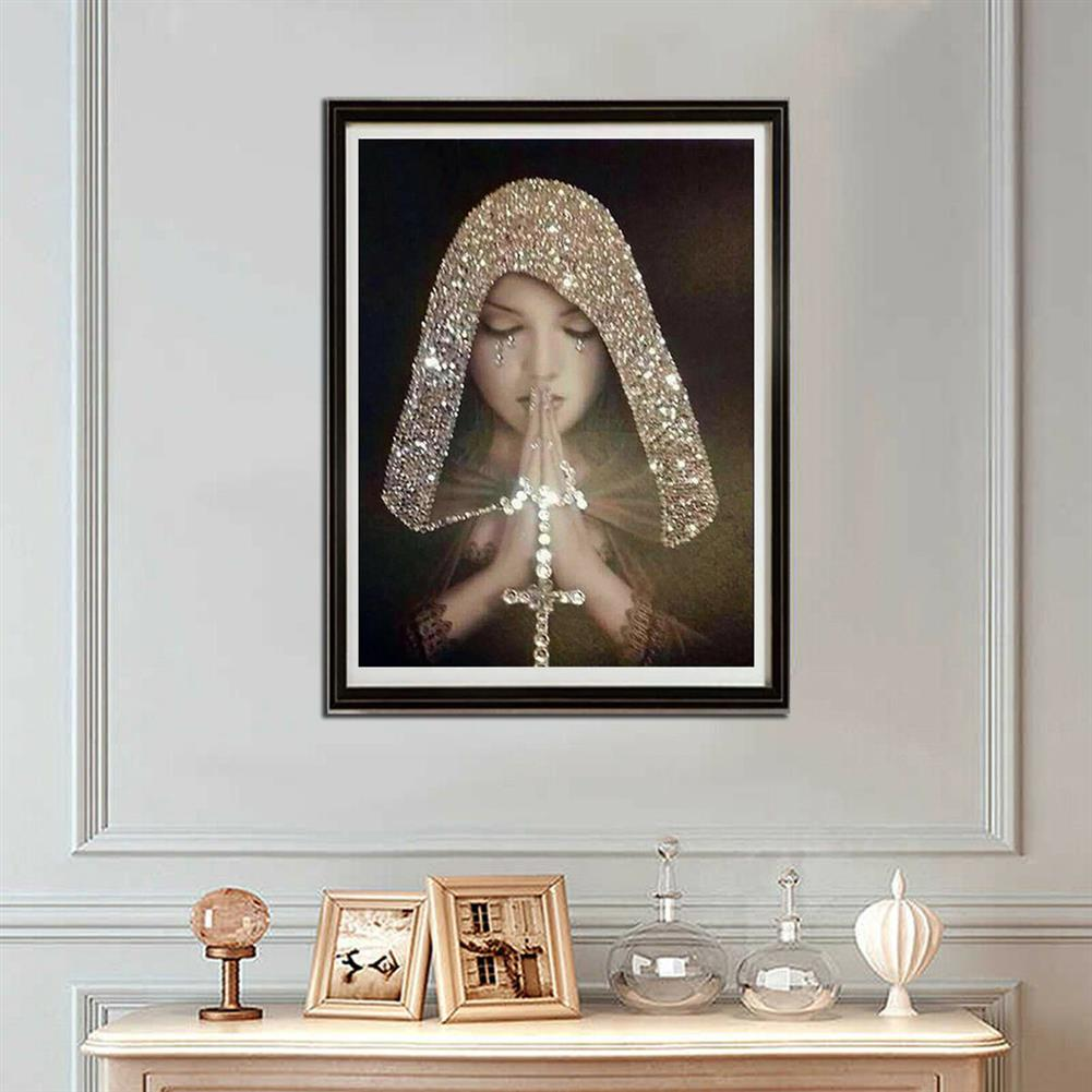 art-kit DIY 5D Diamond Painting Full Drill Praying Girl Art Craft Embroidery Stitch Kit Handmade Wall Decorations Gifts for Kids Adult HOB1733920 3 1