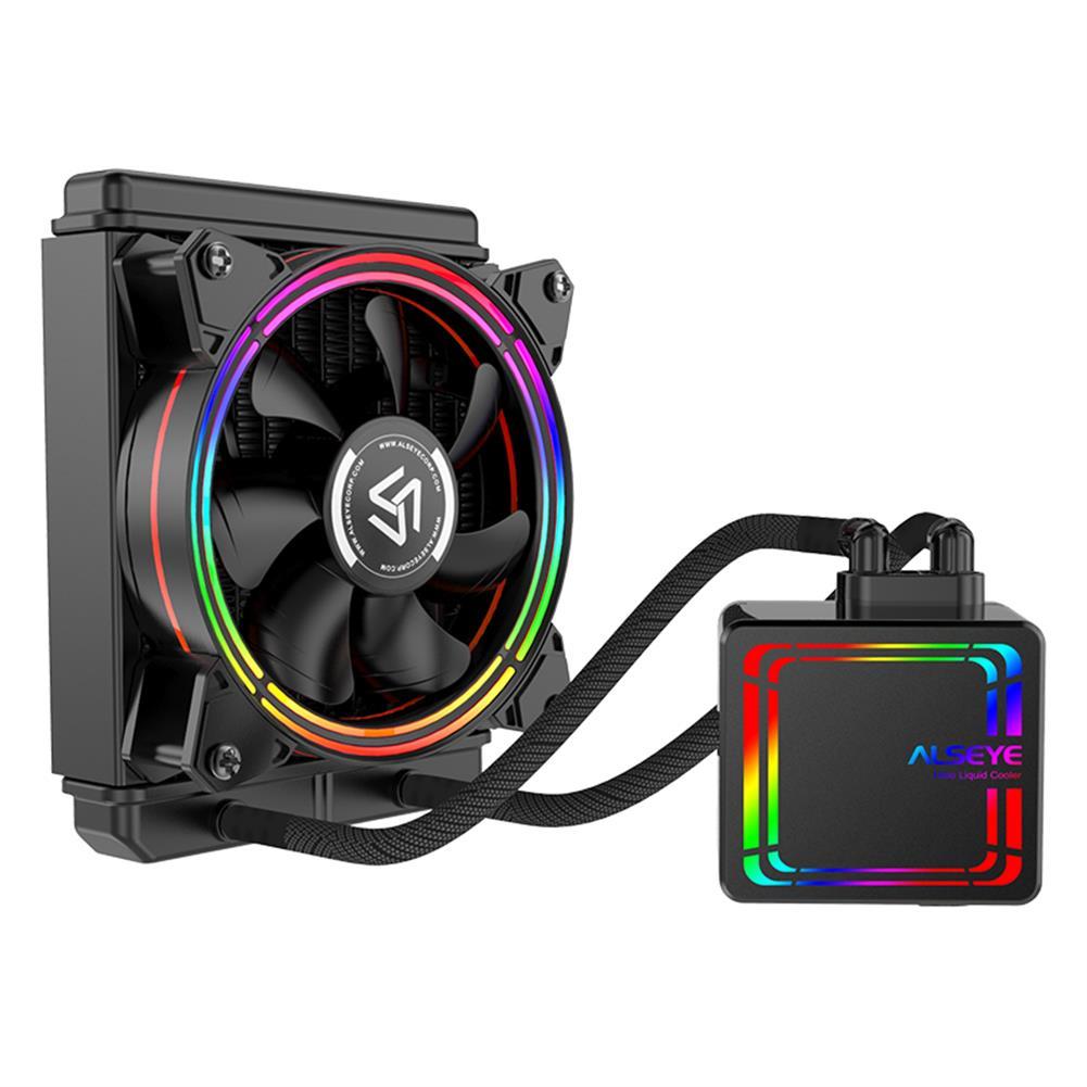 fluid-diy-cooling ALSEYE H120 Water Cooler RGB Water Cooling Fan integrated CPU Cooler for LGA 775/115x/1366/2011/AM2/AM3/AM4 HOB1733976 1