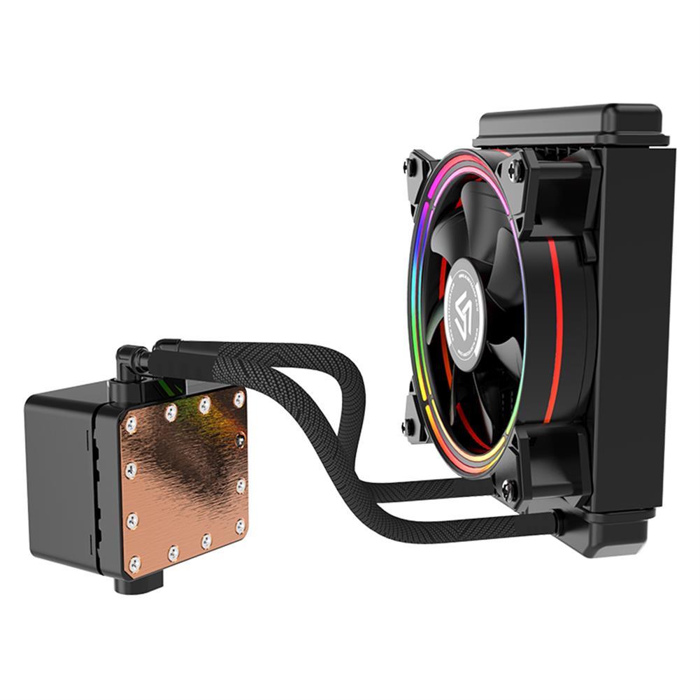 fluid-diy-cooling ALSEYE H120 Water Cooler RGB Water Cooling Fan integrated CPU Cooler for LGA 775/115x/1366/2011/AM2/AM3/AM4 HOB1733976 1 1