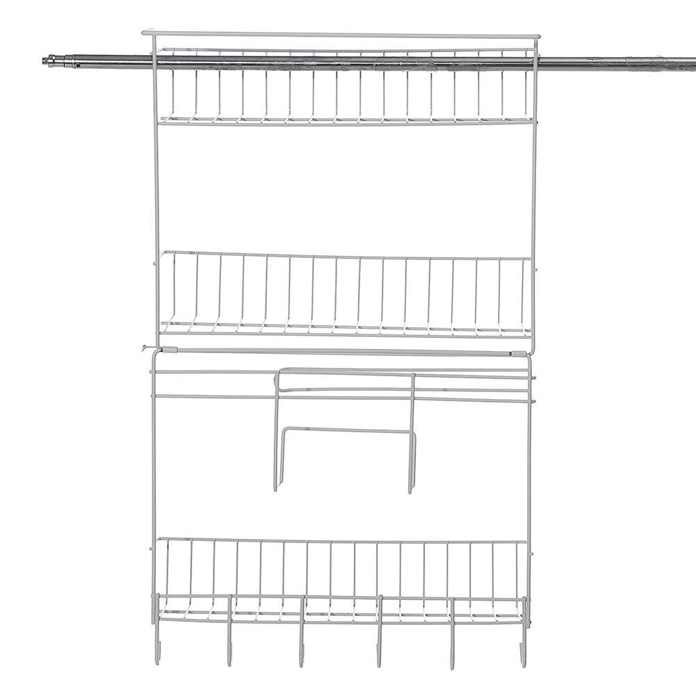 desktop-off-surface-shelves Wall Shelf Hanging Storage Rack Storage Organizer Shelf Free Carbon Steel Storage Shelves Rack for Kitchen Bathroom HOB1734029 2 1