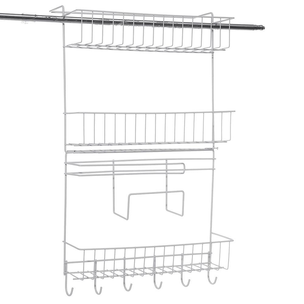 desktop-off-surface-shelves Wall Shelf Hanging Storage Rack Storage Organizer Shelf Free Carbon Steel Storage Shelves Rack for Kitchen Bathroom HOB1734029 3 1