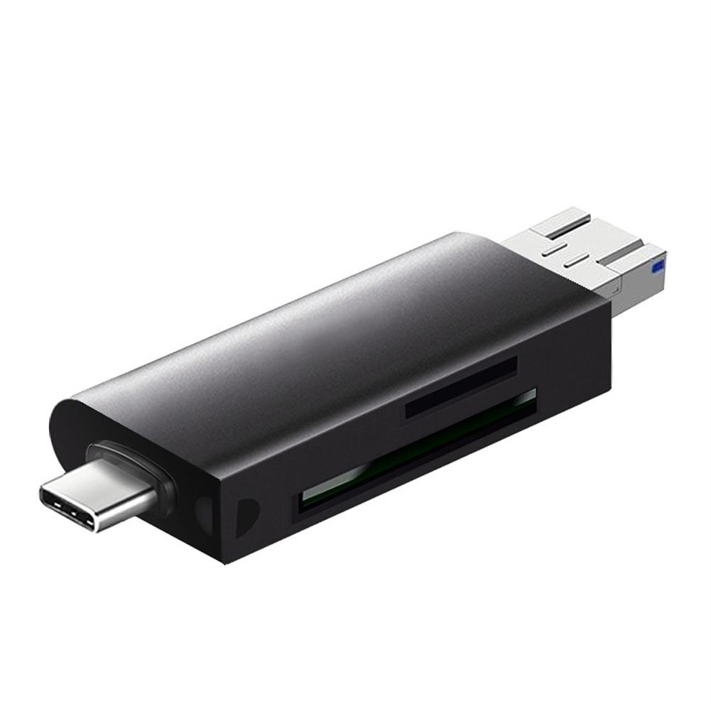 card-readers Youpinjia C201 5 in 1 USB3.0 Card Reader SD TF Micro USB Type-C Card Multifunctional OTG Memory Card Reader for Computer Mobile Phone HOB1734252 1 1