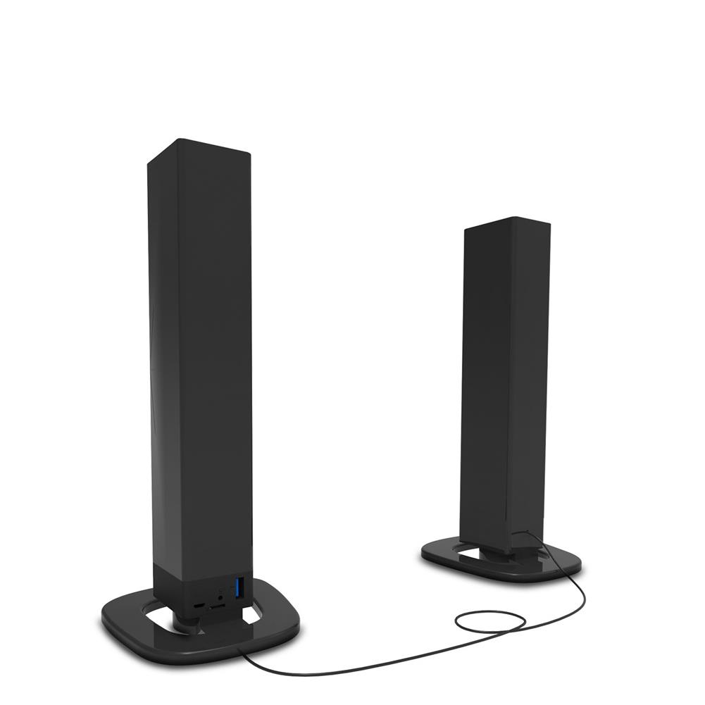 computer-speakers Smalody YXSM8070BT Computer Speaker Detachable 2.0 bluetooth Speaker Portable Wireless Speaker U Disk Audio input 3.5mm/0.14'' And RCA Audio input Black HOB1734261 1 1