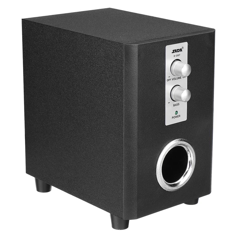 computer-speakers SADA D-200T Home Laptop Audio Multimedia Mini Speaker USB AUX Audio 2.1 Subwoofer bluetooth5.0 Wired 3.5mm Wood Black HOB1734800 2 1