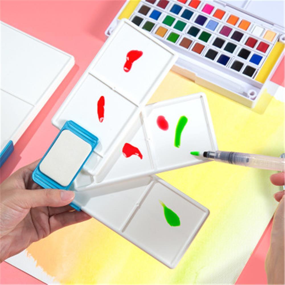 palette Superior Fan-Shaped Palette Foldable 3 Layers Palette Watercolor Gouache Mix Disk for Pro Painters Students HOB1735359 1