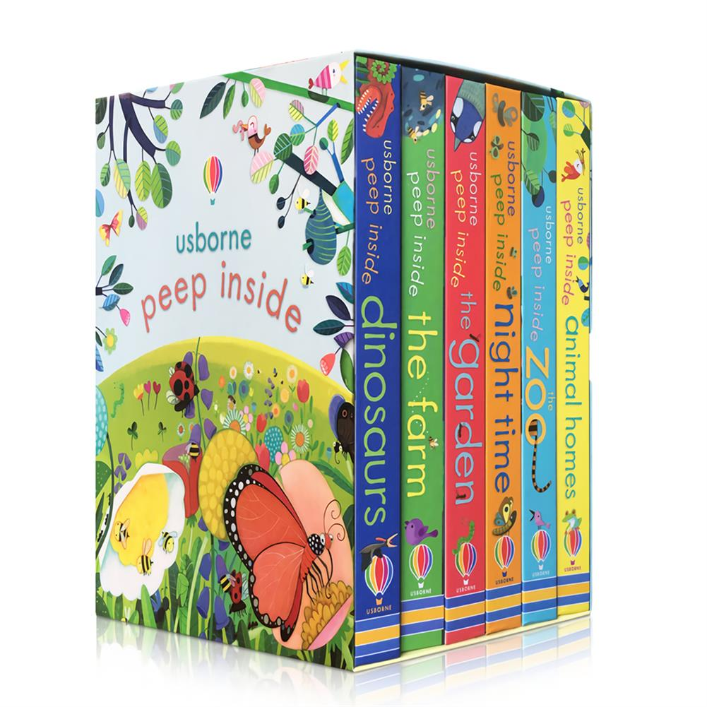 other-learning-office-supplies 6 Books/set English Painting Book Educational 3D Flap Picture Books Baby Children Reading Book for Children Gifts HOB1735778 1