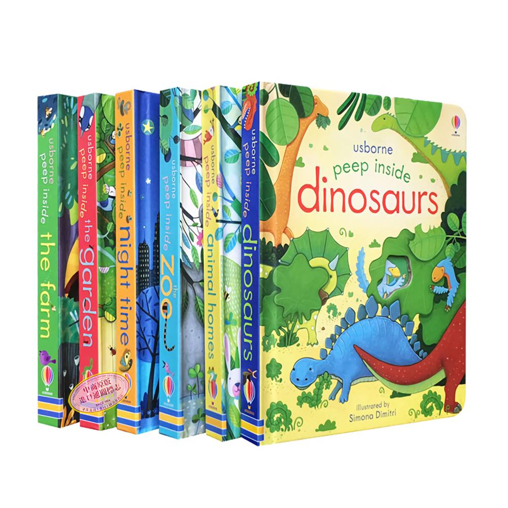 other-learning-office-supplies 6 Books/set English Painting Book Educational 3D Flap Picture Books Baby Children Reading Book for Children Gifts HOB1735778 1 1