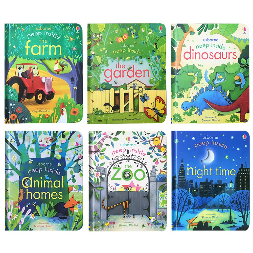 other-learning-office-supplies 6 Books/set English Painting Book Educational 3D Flap Picture Books Baby Children Reading Book for Children Gifts HOB1735778 2 1