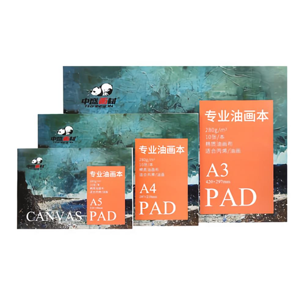 paper-notebooks 280g/m2 Watercolor Oil Painting Book A5/A4/A3 10 Sheet Drawing Water Color Paper Art Supplies Stationery for Painting Beginner HOB1736304 1